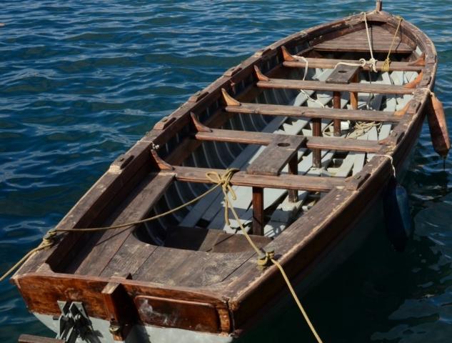 Boat in Hania Harbor